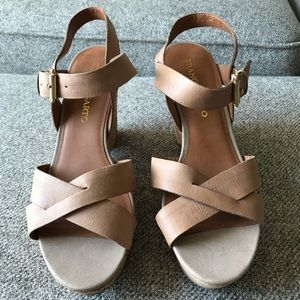 Shoes - Franco Sarto Leather Wedge